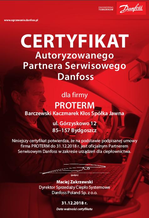 Proterm - Autoryzowany partner serwisowy Danfoss